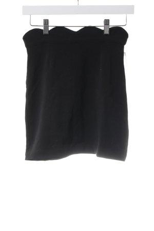 Minirock schwarz schlichter Stil