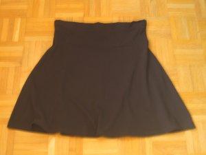 Miniskirt black cotton