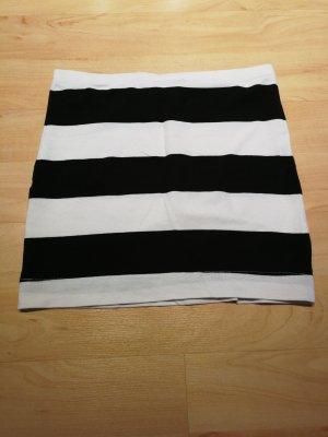 Minirock schwarz/weiß