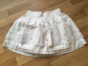 Abercrombie & Fitch Skater Skirt white cotton