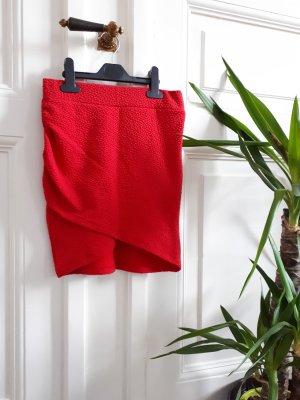 H&M Jupe asymétrique rouge