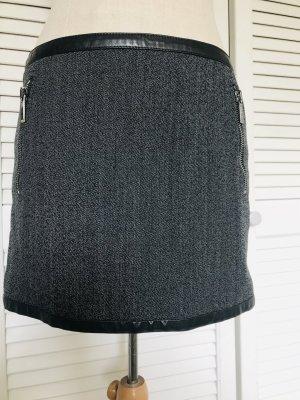 Barbara Bui Mini-jupe gris anthracite laine