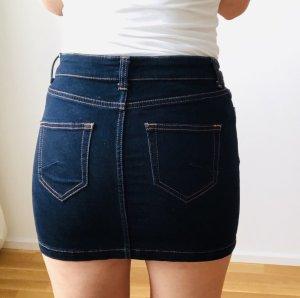 Hallhuber Jupe en jeans bleu foncé