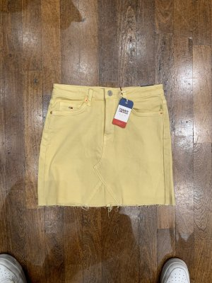 Tommy Jeans Gonna di jeans giallo pallido