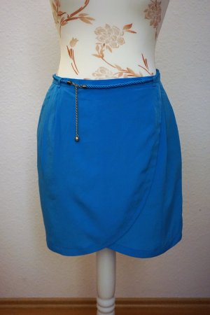 H&M Wraparound Skirt gold-colored-blue