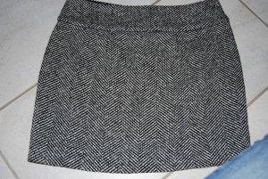 Minirock Wollrock schwarz/weiß von Cinque Größe 36