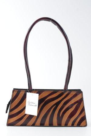Minitasche bronzefarben-braunrot Streifenmuster Casual-Look