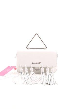Mini sac gris clair-blanc cassé élégant