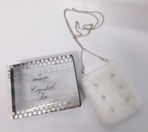 Mini Bag white-silver-colored fake fur