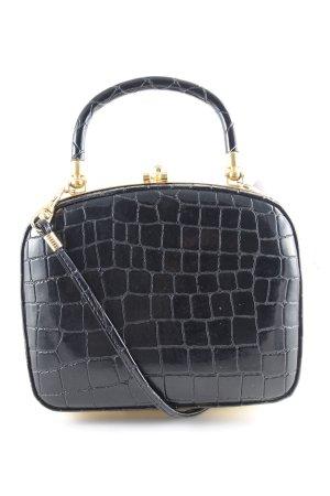 Mini sac noir motif animal élégant