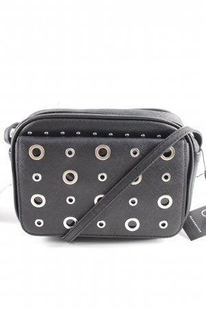 Mini Bag black-silver-colored street-fashion look