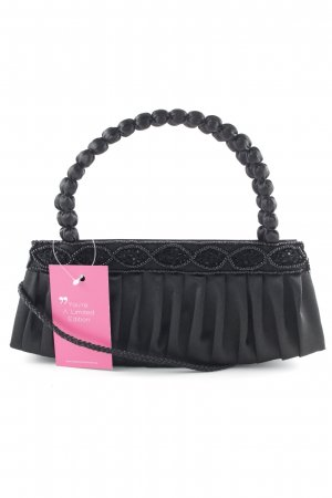 Minibolso negro punto trenzado elegante