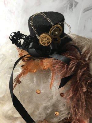 Cappello a cilindro nero-oro