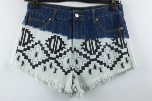 Minkpink Denim Shorts black-white cotton