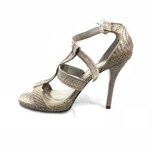 Ralph Lauren High-Heeled Sandals grey brown