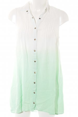 Minkpink ärmellose Bluse weiß-hellgrün Farbverlauf Beach-Look