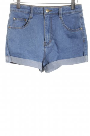 Minkpink High Waist Jeans stahlblau Street-Fashion-Look