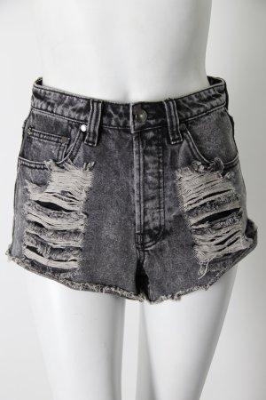 Minkpink High Waist Jeansshorts schwarz Acid Wash