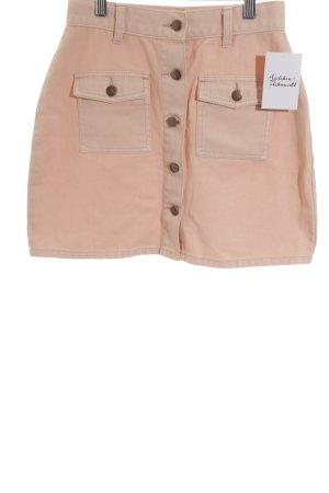 Minkpink Falda de talle alto albaricoque look Street-Style