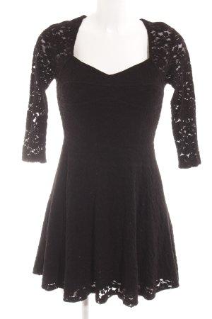 Minkpink Langarmkleid schwarz Elegant