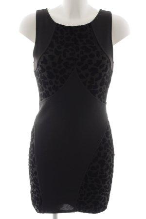 Minkpink Stretchkleid schwarz Animalmuster Elegant