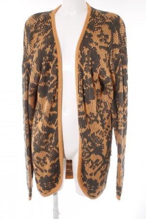 Minkpink Strick Cardigan grüngrau-orange Casual-Look