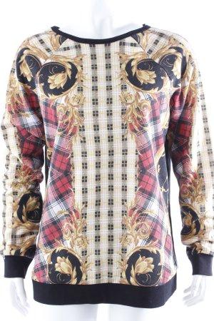 Minkpink Sweatshirt Karomuster Gr. 36 II