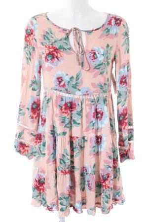 Minkpink Volante jurk bloemenprint romantische stijl