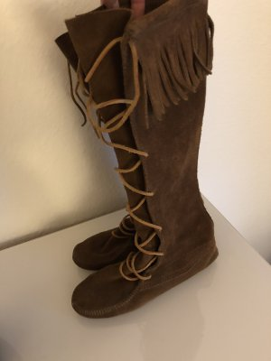 Minnetonka Botas con cordones marrón