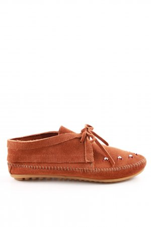 Minnetonka Mocassins orange clair style décontracté