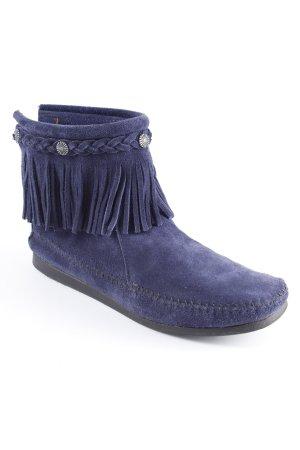 Minnetonka Mokassins blau Hippie-Look