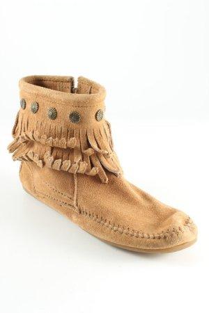 Minnetonka Mocasines camel-color oro look Boho