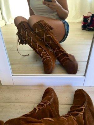 Minnetonka Natural Indianer Festival Pocahontas Bohemian Wildleder Boots