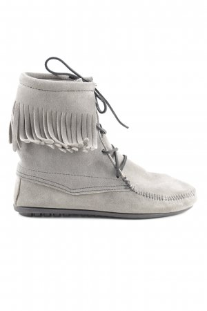 Minnetonka Lace-up Boots grey-black Boho look