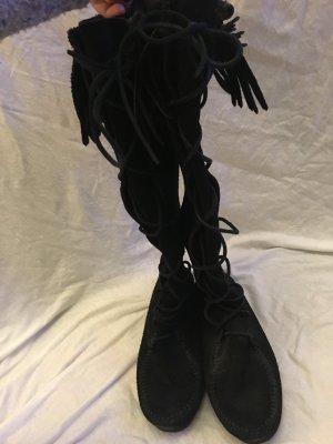 Minnetonka Bottes à lacets noir