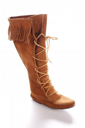 Minnetonka Stiefel braun Country-Look