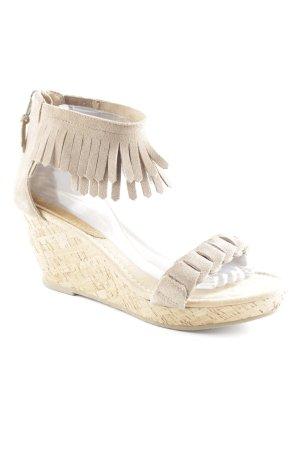 Minnetonka Wedges Sandaletten graubraun-sandbraun Casual-Look