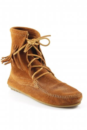 Minnetonka Western Booties cognac-coloured-brown Gypsy style