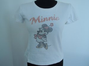 Minnie Mouse Basic Tops mit Pailetten