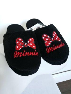 Disney Pantoufles noir-rouge
