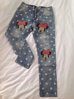 Minnie Mouse Jeanshose Skinny Punktemuster