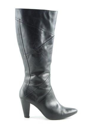 Minozzi Milano Absatz Stiefel schwarz schlichter Stil