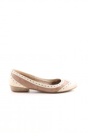 Minozzi Milano Mary Jane Ballerinas braun-creme Casual-Look