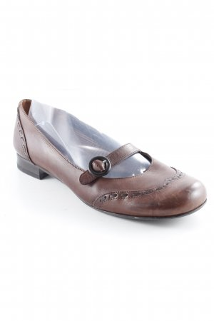 Minozzi Milano Strappy Ballerinas dark brown casual look