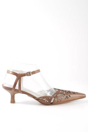 Minozzi Milano Riemchen-Sandaletten braun Casual-Look