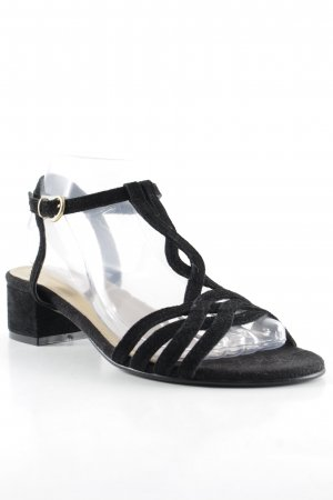 Minozzi Milano Strapped High-Heeled Sandals black street-fashion look