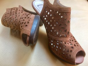 Minozzi Milano Heel Pantolettes taupe