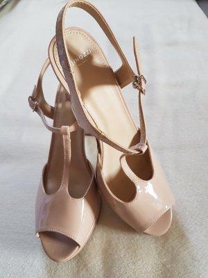 Minozzi Milano Plateauzool sandalen nude