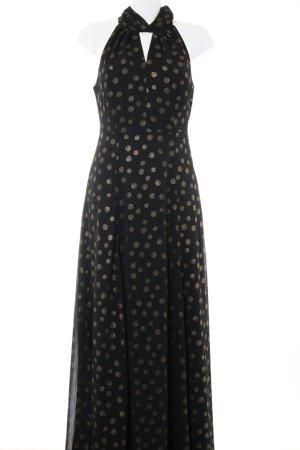 Mint&berry A Line Dress black-gold-colored elegant