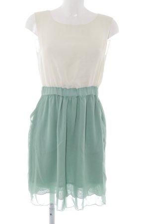Mint&berry A-Linien Kleid creme-hellgrün 50ies-Stil